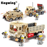 Military Series Tank Rocket Missile Launcher Army Soldier Vehicle Gun Building Blocks Toys Compatible with Lego