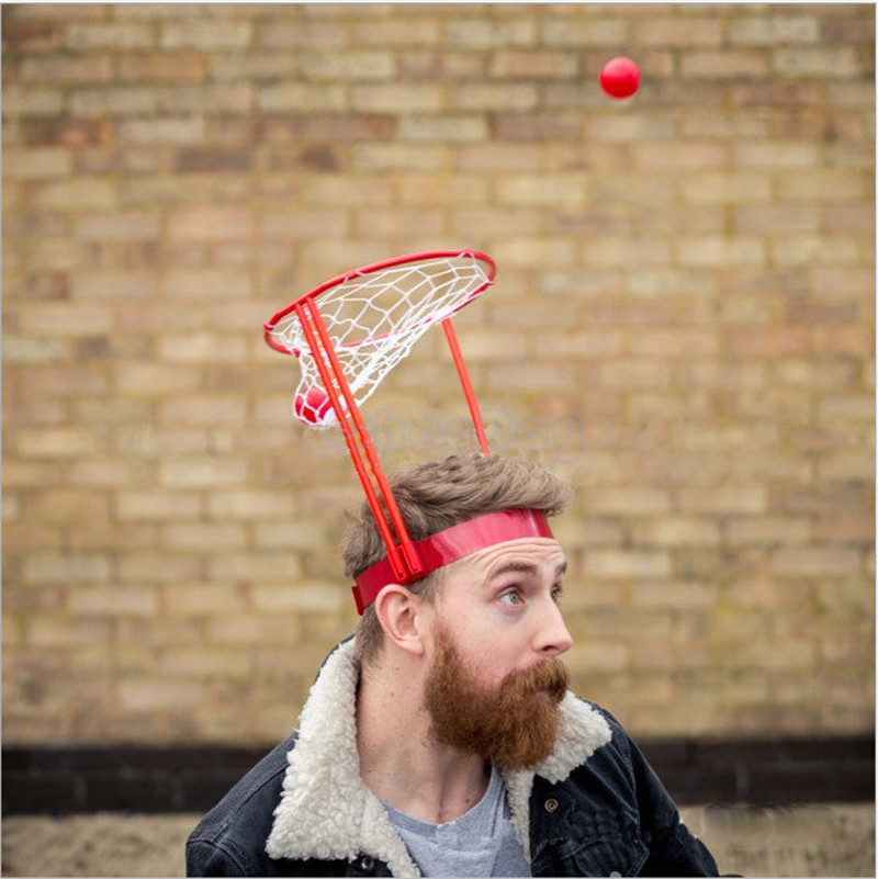 Outdoor Fun Kids Toddler Baby Children Head Basketball Hoop Game Circle Shot Plastic Basket Parent - Child Interactive Toys Hat máy xay sinh tố của đức