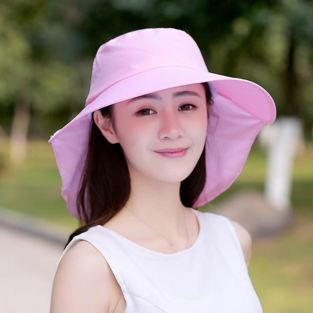 2017 Fashion Face Protection Best Sun Hat Summer Hats For Women Foldable  Anti-UV Wide Big Brim Adjustable Women Beach Hat Summer 5e09eecdaa3