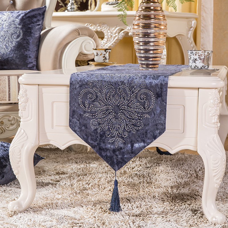 Fashion Top Quality Luxury Thick Velvet Fabric Hot Drilling Tea - Home Textile - Photo 2