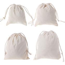 Горячая натурального хлопка Drawstring вещи мешок для стирки одежда отделка шнурок сумки