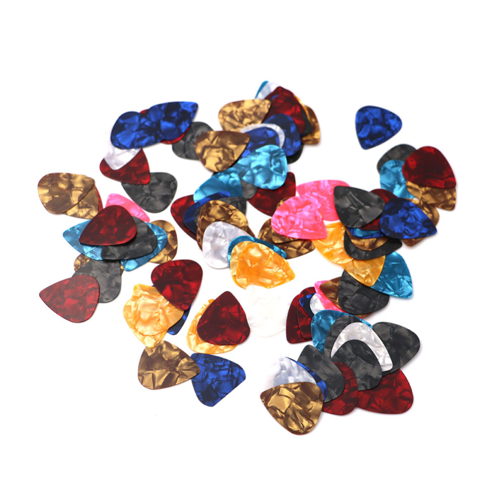 100pcs/lot Thin Guitar Picks Parts Accessories Celluloid 0.38mm-0.8mm Stringed Instruments Accessories Parts ...