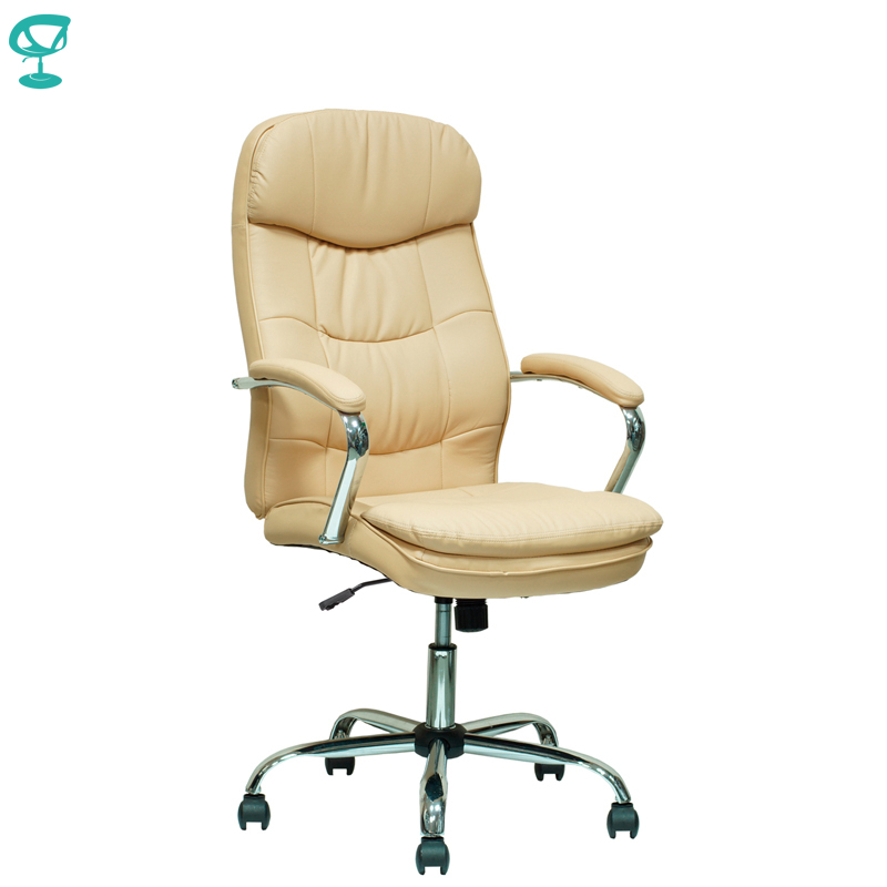 94650 Beige Office Chair Barneo K-2 Perforated Eco-leather High Back Chrome Armrests Leather Straps Free Shipping In Russia