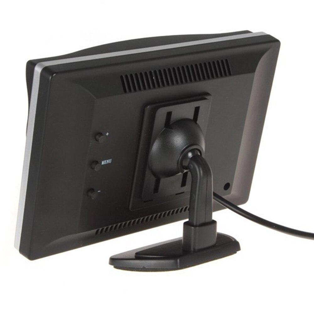 """"""" TFT lcd цветной экран автомобильный монитор HD800* 480 Автомобильный парковочный монитор заднего вида для камеры заднего вида VCD DVD VCR - Цвет: Silver one bracket"""