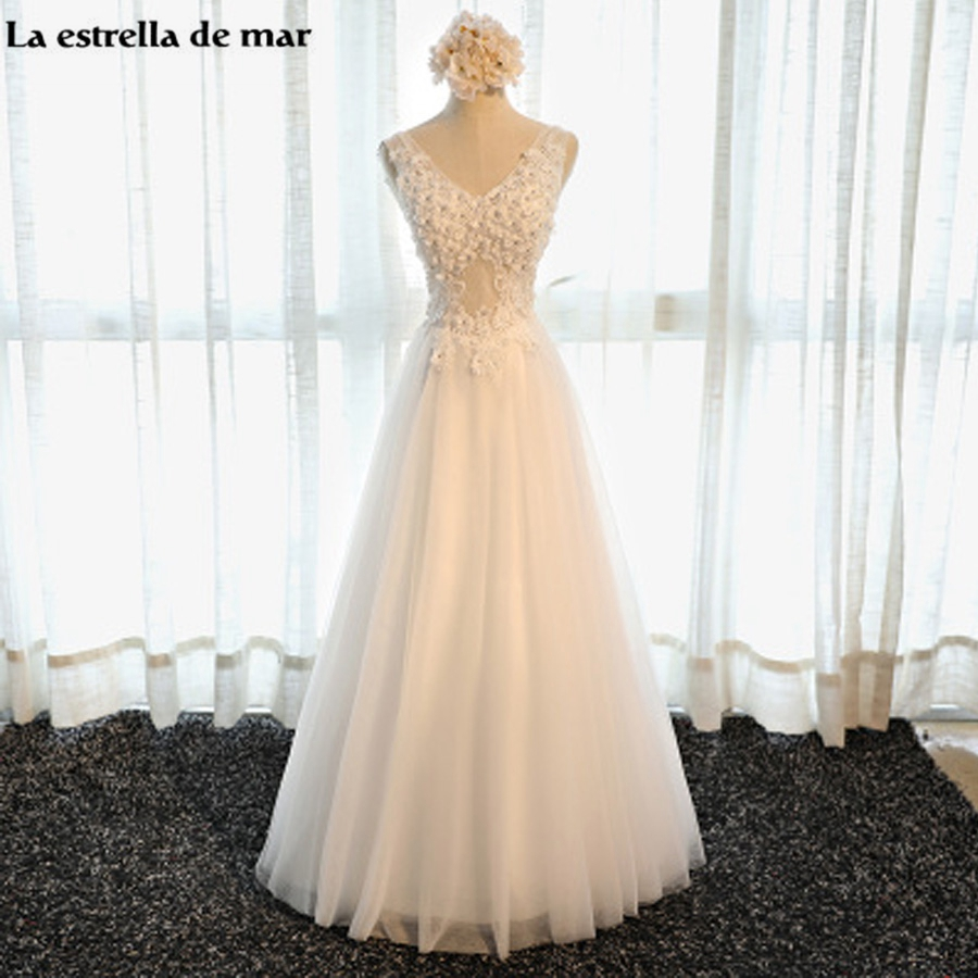 Bohemian Wedding Dress 2017 New Sexy V Neck Tulle Crystal