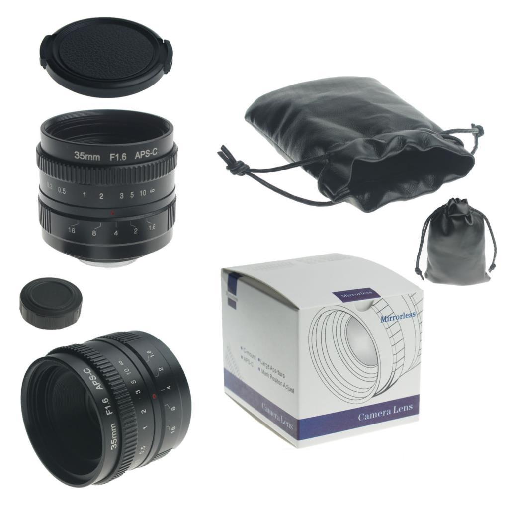 35mm F1.6 CCTV TV Movie c mount Lens APS-C for M4/3 FX EOSM nex pq n1 mirrorless camera body kaxinda metal 35mm f 1 7 lens for m4 3 nex fx eosm n1 p q e1 aps c mirrorless