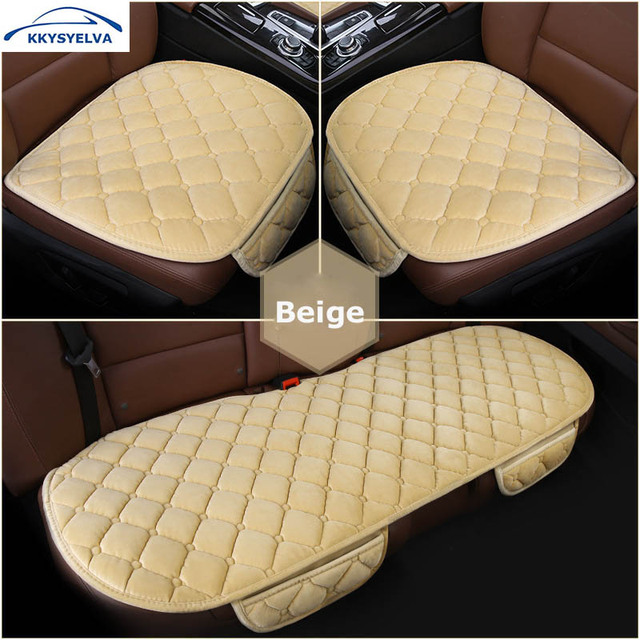 KKYSYELVA Easy Install Car Seat Cushion Cover Universal Auto Front Back Covers Chair Mat