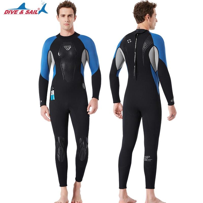 Premium Neoprene Wetsuit 3mm Men Scuba Diving Thermal Wetsuit –Black