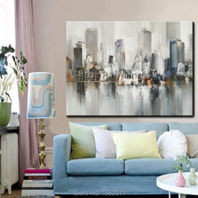 Paris City Painting Home Decor Decoration Oil painting Wall Pictures for living room paint art