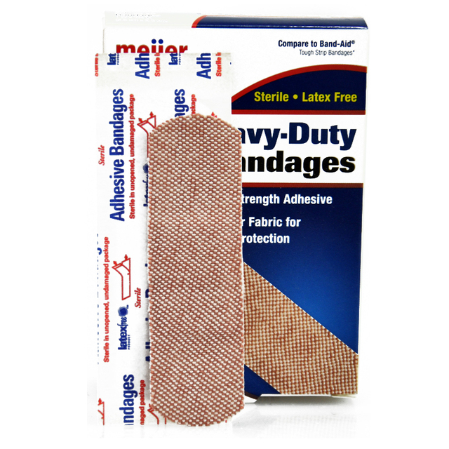 60 PCs/3Boxes 2.5X8.3cm Heavy-Duty Bandages Hemostasis Band aid Family Emergency kit Travel Camping First aid