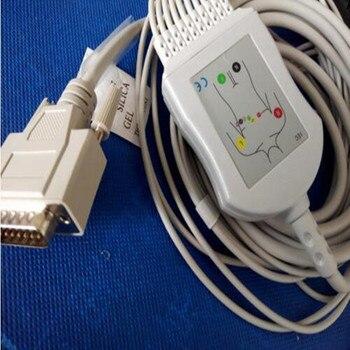 Factory Price Compatible Nihon Kohden ECG/EKG Cable ECG-1250,ECG-1350, ECG-9101/9130/9132/9620 Din type without Resistor TPU фото