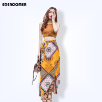 Bohemian Costumes For Women 2017 Women S Sets Summer Beach Long Skirt Suede Crop Top Bohemia