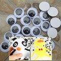 100 PCS 15 MM 20 MM Auto-adesivo Olhos Brinquedos de Pelúcia Recheado Bonecas Olhos Acessórios Da Boneca De Plástico Olhos Para Brinquedos de pelúcia DY01