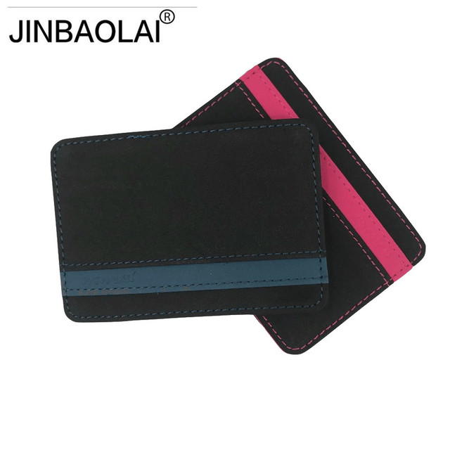 JINBAOLAI Slim Male Magic Wallet Scrub PU Leather Purse High Quality Carteira Magica Masculina Porte Monnaie Small Wallets 2018