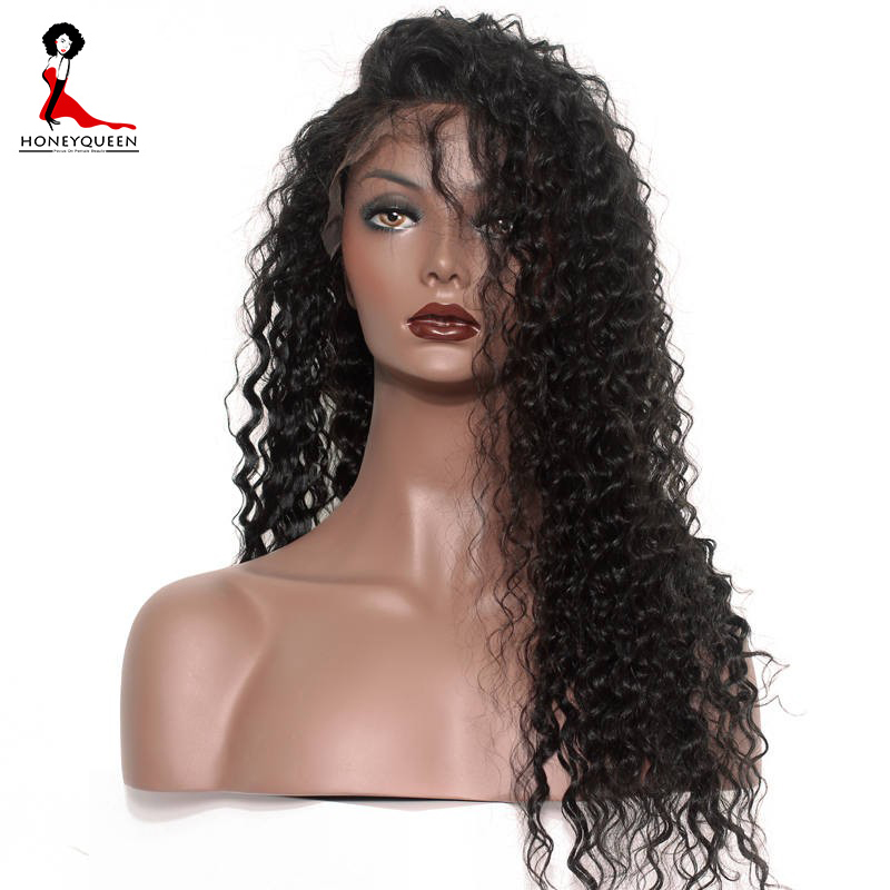130% Density Lace Front Human Hair Wigs for Black Woman Curly Brazilian Remy Hair With Baby Hair Honey Queen