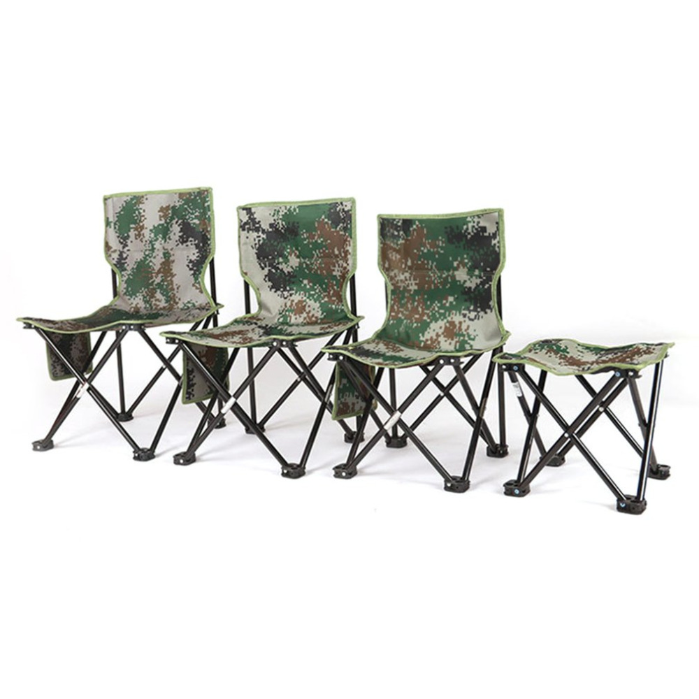 Ultralight Aluminum Alloy Foldable Four Corners Chair Camouflage Outdoor Stool Chair Seat for Camping Hiking Fishing PicnicUltralight Aluminum Alloy Foldable Four Corners Chair Camouflage Outdoor Stool Chair Seat for Camping Hiking Fishing Picnic