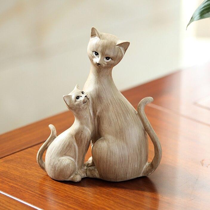 สไตล์ 2 น่ารักน่ารัก Cat สร้างสรรค์บุคลิกภาพแมวเรซิ่นเครื่องประดับ Figurine รูปปั้นประดิษฐ์ที่ดีที่สุดของขวัญคริสต์มาสวันแม่-ใน รูปแกะสลักและรูปจำลอง จาก บ้านและสวน บน   1