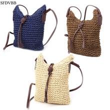 SFDVBB Women Handbag Shoulder Bag Straw Weave Tote Purse Lady Beach Hobo Bag Crossbody недорго, оригинальная цена