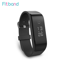 In Stock Original Fitband F2S Smart Wristband Bracelet Band2S IP67 OLED Screen Touchpad Pulse Heart Rate Step Time Date