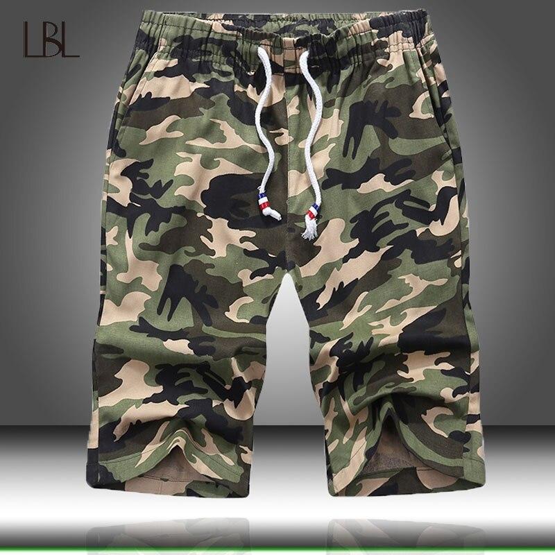LBL Camouflage Camo Cargo-Shorts Männer 2020 Neue Mens Casual Shorts Männlichen Lose Arbeit Shorts Mann Military Kurze Hosen Plus größe 4XL