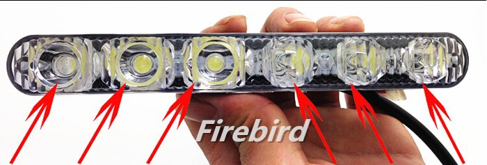Free Shipping 12w Power Led DRL Daytime Running Lights Super Cold White Fog Lamps Or Assist
