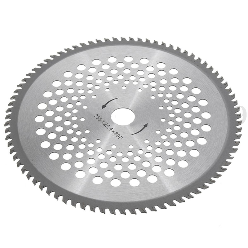 10'' 80T Teeth Carbide Tip Brush Cutter Trimmer Weed-eater Replacement Blade For Garden Tools Parts Mayitr brush cutter spare parts 3 teeth blade made in china