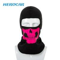 Herobiker мотоцикл маска череп призрачный Байкер маски летние мотоциклетные уход за кожей лица щит ветрозащитный Открытый маска Балаклавы шарф