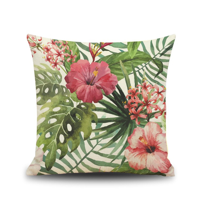 Africa colorful Tropical Plant Banana Leaf Pillow Case Cushion Cover Home coffee shop ho ...
