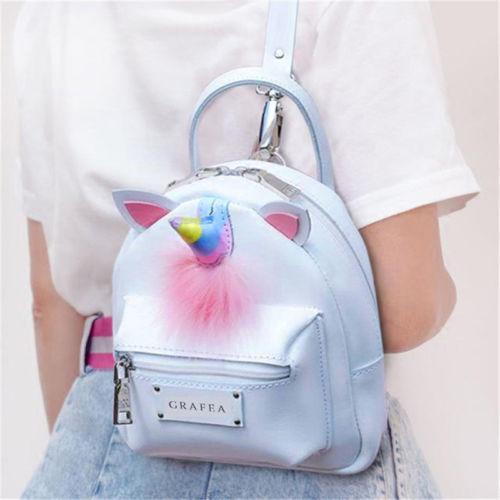 Mini Backpack for Girls Cute Unicorn Shoulder Bag Women PU Leather Backpack 1pc