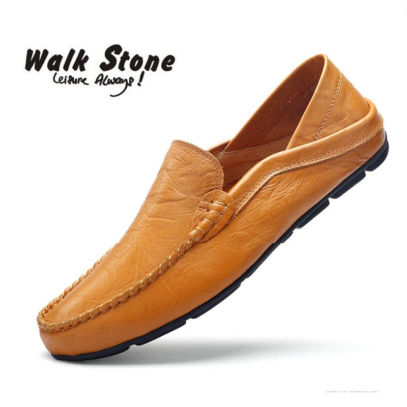 Genuine Leather Cow Slip On Casual Men Loafers Spring And Autumn Mens Moccasins Men's Flats Classical Boat Shoes Chaussure Homme mycolen 2017 new slip on casual men loafers spring and autumn mens moccasins shoes genuine leather men s flats shoes sapato