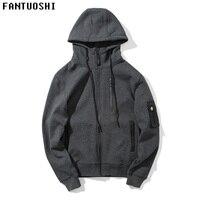 2018 Fashion Hoodies Men Sudaderas Hombre Casual Mens Brand 100 Cotton Zipper Hoodie Cardigan Sweatshirt Regular