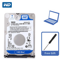 "WD Blue 500 GB 2.5 ""SATA III Internal Hard Disk Drive 500G HDD HD Harddisk 6 Gb/s 16M 7 Mm 5400 Rpm untuk Notebook Laptop(China)"