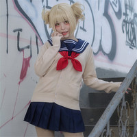 Hero Academia Anime Cosplay Costume Himiko Toga Cosplay Costume for Women Japan school Uniform Sailor suit Full Sets