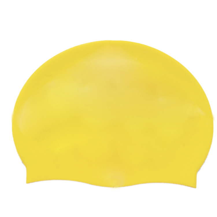 SEWS Adult Soft Silicone Dome Shape font b Swimming b font Cap Hat Yellow