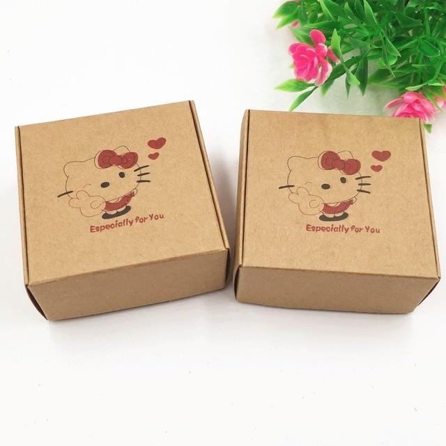Captivating 200pcs/lot Brown Kraft Paper Gift Box Cosmetic Bottle Jar Box Handmade Soap Candle  Storage