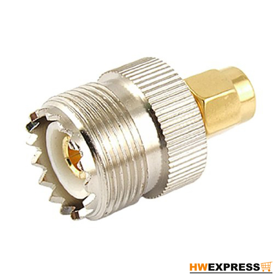 цена на Wholesale 2 PCS Hot Sale UHF SO-239 SO239 Female to SMA Male Plug Connector Coaxial Adapter