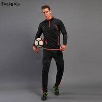 Football Training Suit Men Winter Soccer Training Suit Adult Tracksuit Men Set Sport Kits Football Uniforms