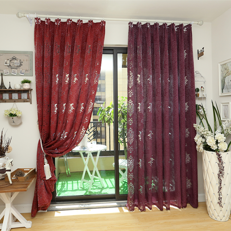 ⃝Envío libre diseño de lujo europeo gris café cortina de la cocina ...