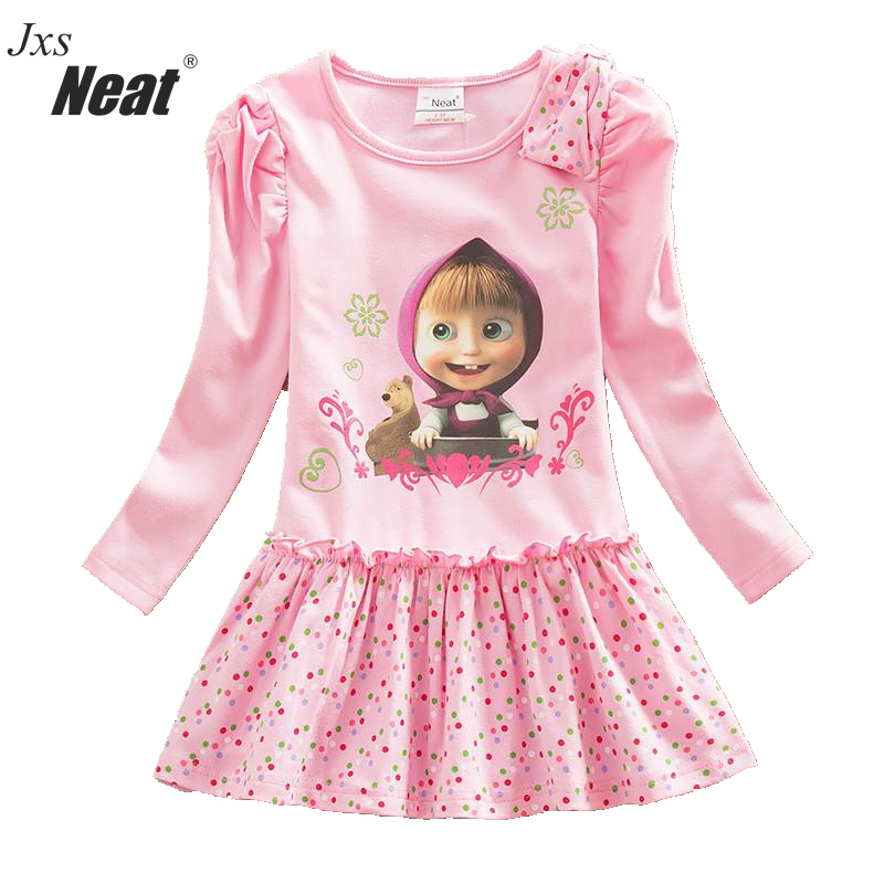 Jxs Neat baby girl long sleeve dress children's clothing