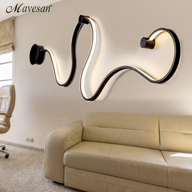 Semplice creativo lampade da parete con bianco o balck colore per ...