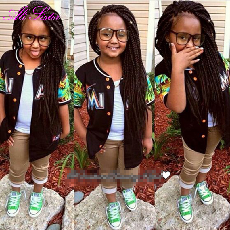 Short Kids Box Braids Crochet Braids Havana Mambo Twist