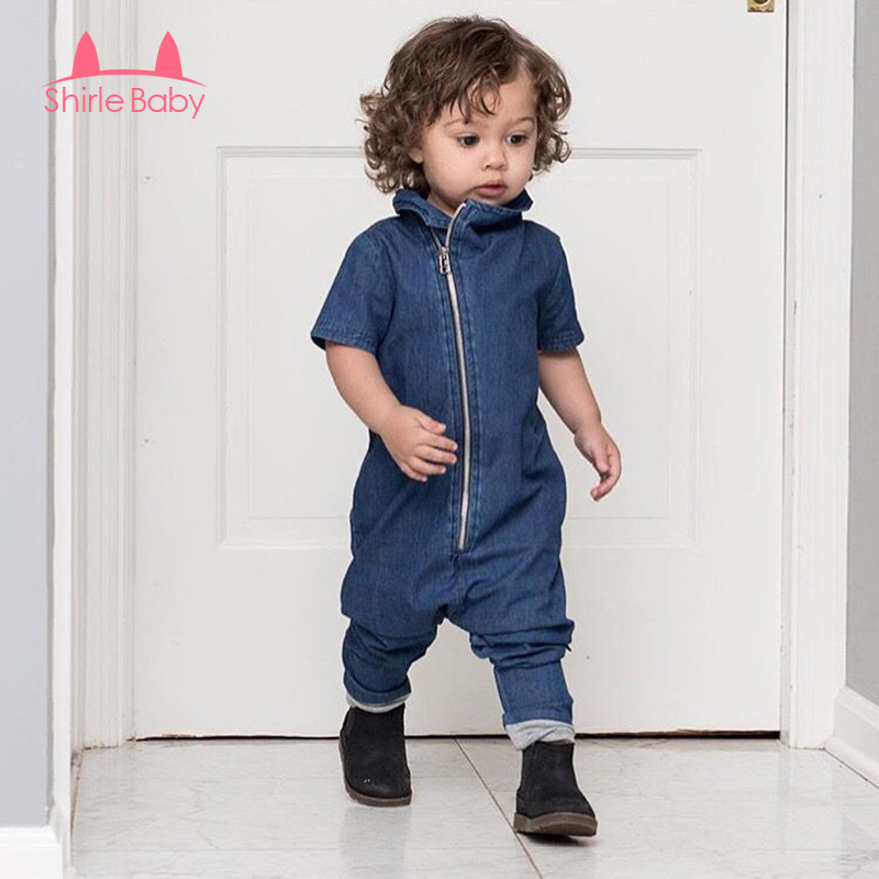 New 2017 Fashion Kids Rompers Denim Newborn Toddler Baby Boys Romper Jumpsuit Outfits Clothes Children Solid Clothes 0-2 Years baby rompers one piece newborn toddler outfits baby boys clothes little girl jumpsuit kids costume baby clothing roupas infantil