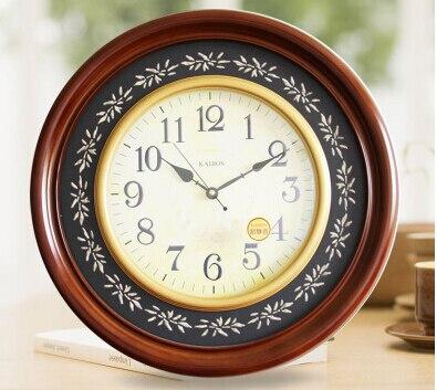 Европейские предметы интерьера высококачественные круглые деревянные настенные часы высокого класса модные и креативные экологически чи