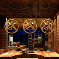 Nordic Retro Hanging Lamp LED Pendant Lights Hemp Rope Creative Lamp Loft Industrial Decor Home Restaurant Bedroom Fixtures E27