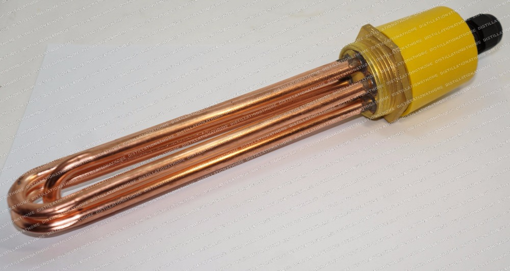 ФОТО 4.5 kW,  220V,  DN40.  Copper  Heater for tank, Electric water heater, Heater element