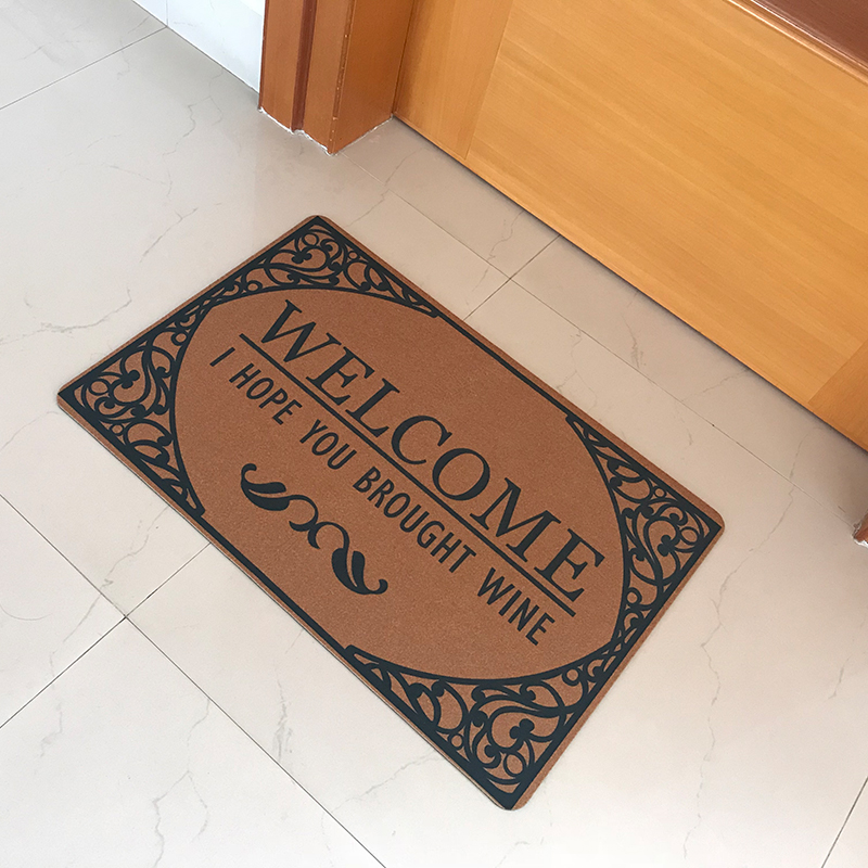New Welcome I Hope You Brought Wine Funny Doormat Entrance Floor Mat Bathroom Kitchen Flooring Carpet Mordern Living Room Rugs
