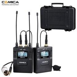 Comica CVM-WM300 96-kanał UHF bezprzewodowy Lavalier Lapel system mikrofonowy do Canon Sony Nikon lustrzanki cyfrowe  XLR kamery