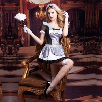 JSY New Sexy Maid dress costumes for role playing games hot erotic high school prom dress carnival clothes Halloween costume