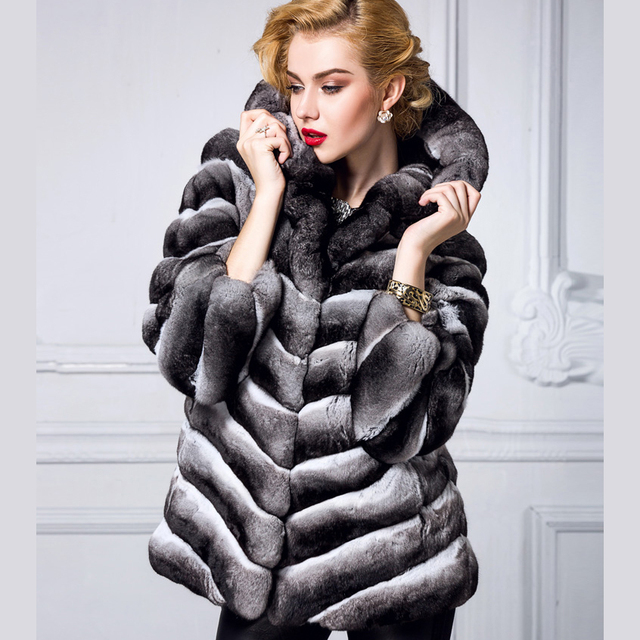 Abrigo de piel chinchilla