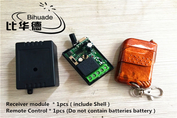 433 Mhz Universal Wireless RF Remote Control Switch DC 12V 10A 1CH relay Receiver Module and 433MHZ Remote Controls With battery image